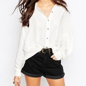 Free People True Affection Dolman Button Down